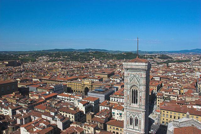 Florence, avec vue sur le clocher de Giotto.