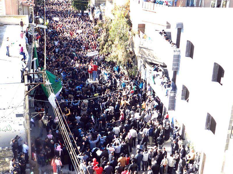 Manifestation de l'opposition à Homs, le 3 février 2012.