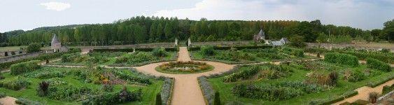 Le potager du jardin du château de Valmer