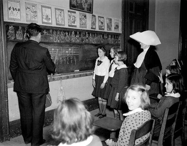 Cours de musique dans un orphelinat de la Nouvelle Orléans en 1940