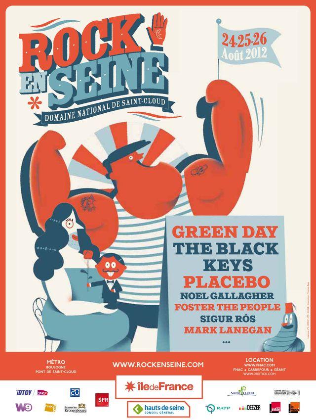 Afiiche du Festival Rock en Seine édition 2012
