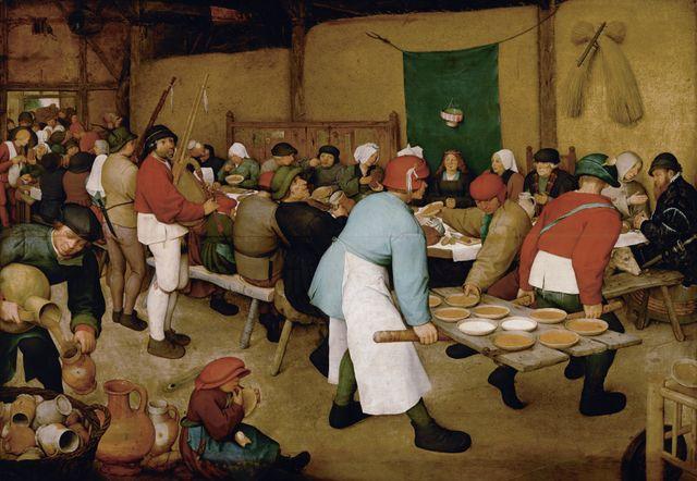 Le repas de noce - par Pieter Bruegel l'Ancien - 1568