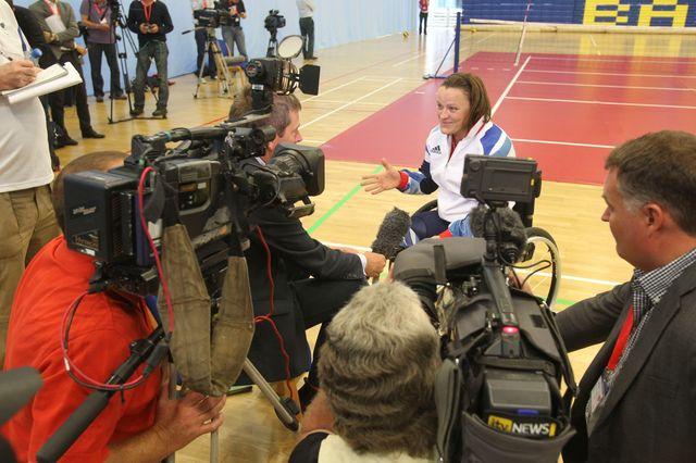 Martine Wright est l'une des vedettes britanniques de ces Jeux