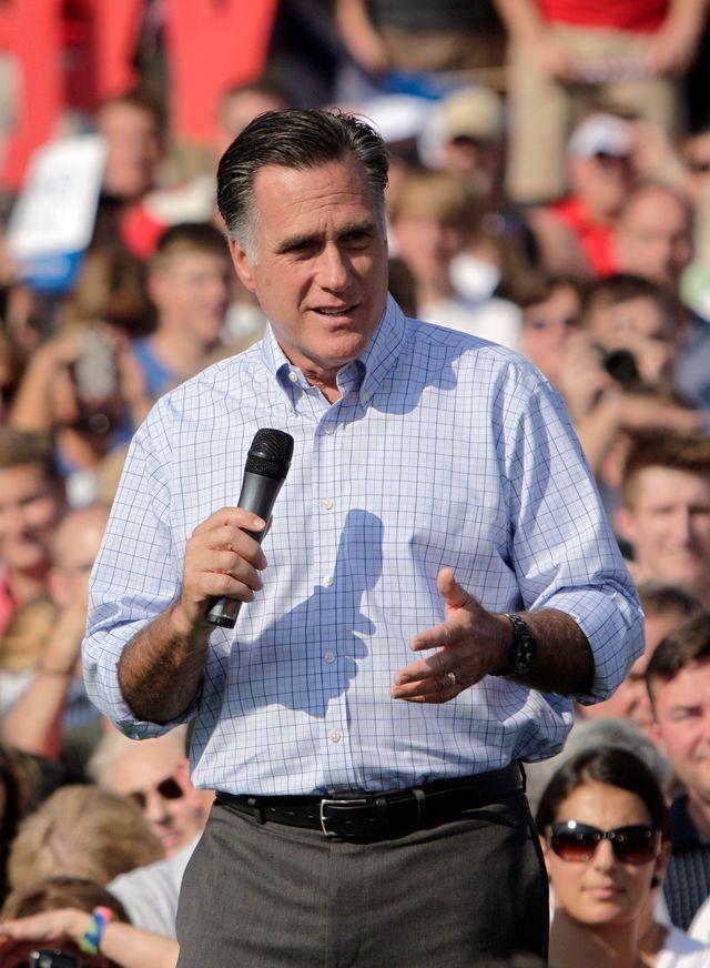 Mitt Romney, lors d'un meeting dans l'Etat de l'Ohio le 24 août dernier