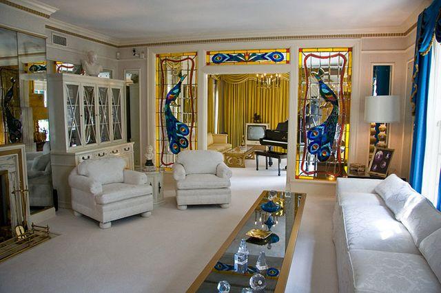 Le salon de Graceland, la résidence d'Elvis Presley