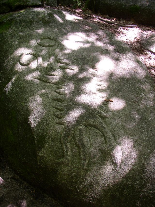 Monolithe gravé de la forêt de Chabrières
