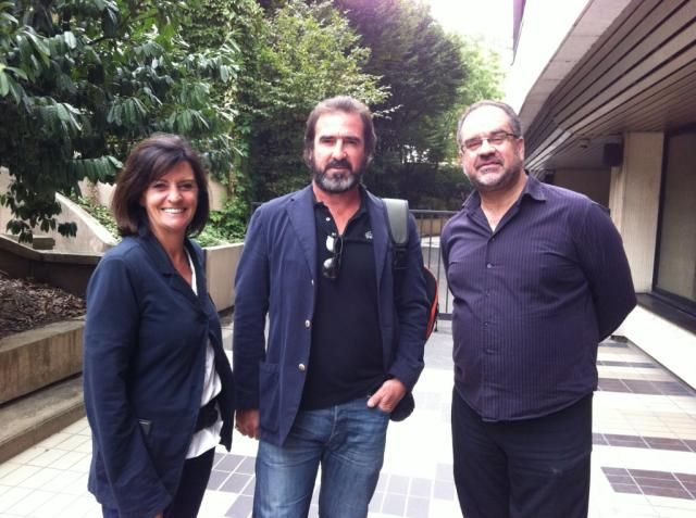Christine Masson, Eric Cantona et Laurent Delmas