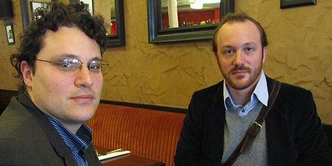 Lionel Maurel et Silvère Mercier, du collectif SavoirsCom1