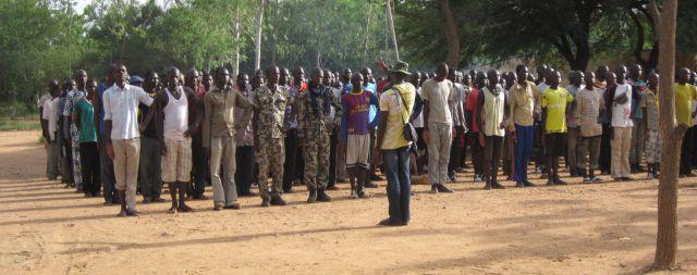 Le camp d'entraînement militaire