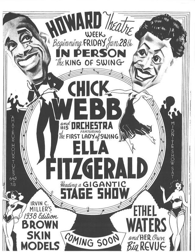 Affiche Howard Theatre - Ella Fitzgerald