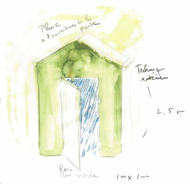 Fabrice Hyber, Maison de pluie