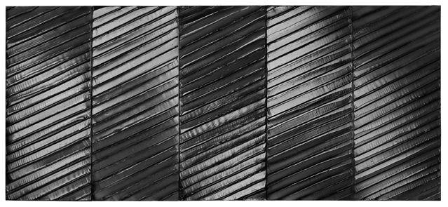 Pierre Soulages, peinture 181/405 cm, 12 avril 2012. Acrylique sur toile. Collection particulière