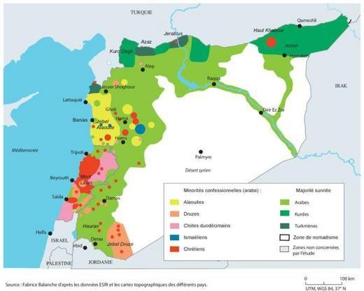 Géographie de la révolte syrienne