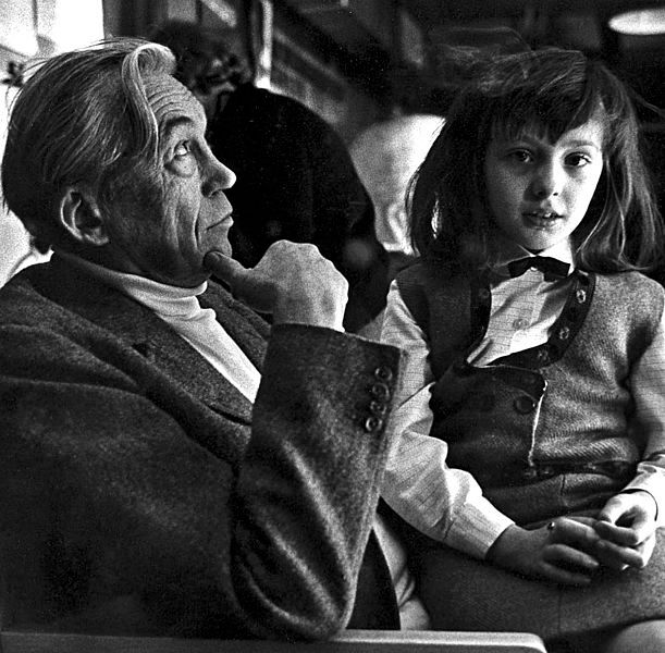 John Huston et sa fille Angelica