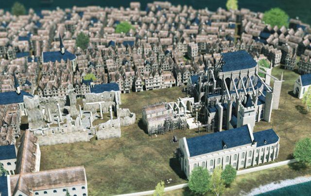 Le site permet notamment de voir évoluer la construction de Notre Dame