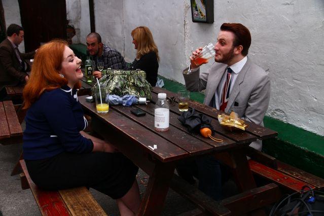 Jack et Lucy au Pilgrim Pub de Liverpool