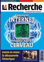 Le numéro de septembre de la revue La Recherche