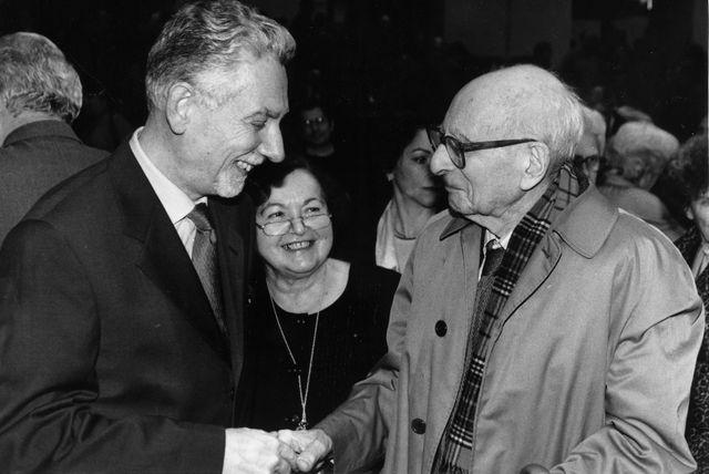 Philippe Descola aux côtés de Françoise Héritier et Claude Levé-Strauss