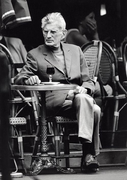 Samuel Beckett, pause café sur une terrasse de la Place Denfert - Rochereau