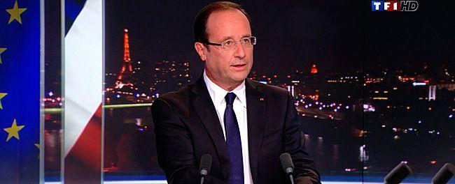 François Hollande au journal de 20h, dimanche 9 septembre.
