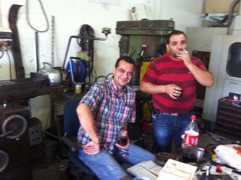 Un atelier de réparation de machines industrielles, à Mishor Adumim