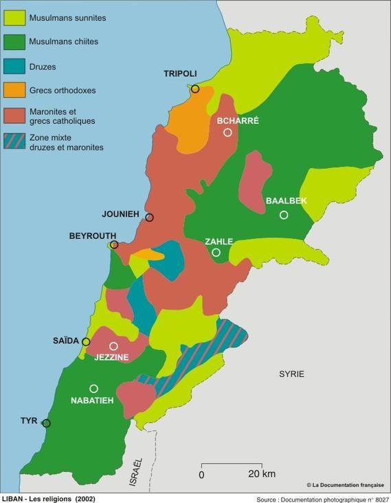 Les communautés religieuses au Liban en 2002