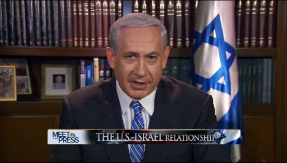 """Benjamin Netanyahu lors de l'émission """"Meet the Press"""" sur NBC."""