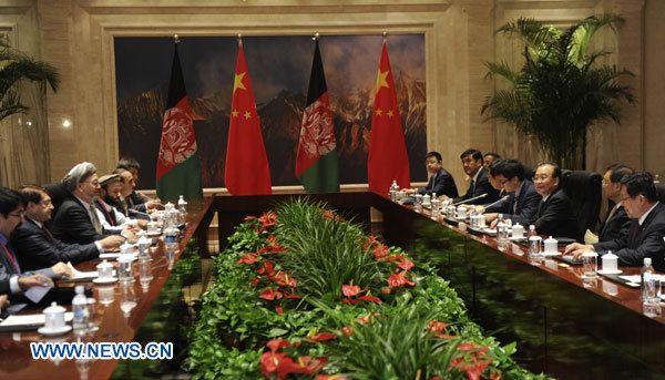 La Chine s'engage à participer à la reconstruction de l'Afghanistan