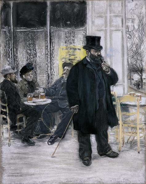 Bohèmes au café par Jean-François Raffaëlli - 1886 -
