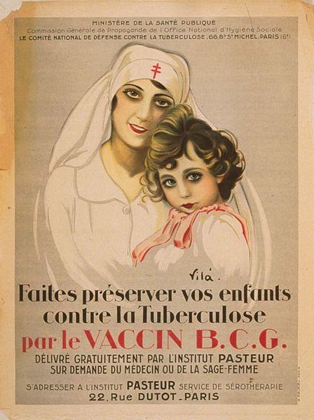 Affiche pour le vaccin contre la tuberculose (1917)