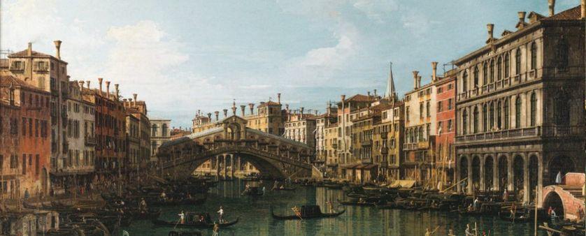 Le grand Canal et le pont du Rialto vu du Sud