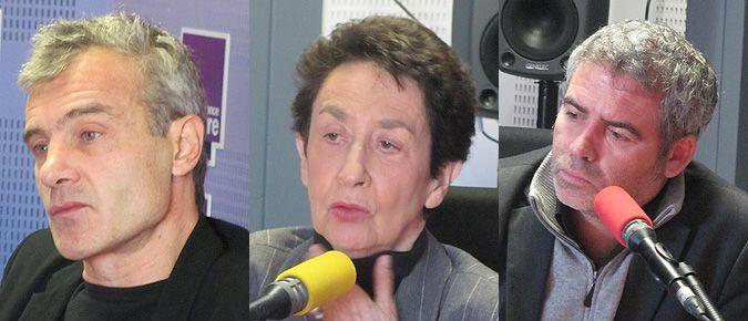 De gauche à droite : Philippe Bataille, Françoise Forette, Stéphane Brizé