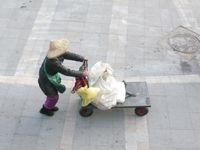 Sur la route du marché