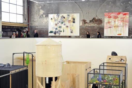 Vue de l'exposition monographique de Fabrice Hyber dans le cadre de la saison Imaginez l'imaginaire/ trans parent, 2012