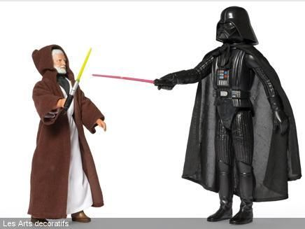 Poupées Obi-Wan Kenobi et Dark Vador, 1978, Kenner fabricant, collection sciencefiction archives.com