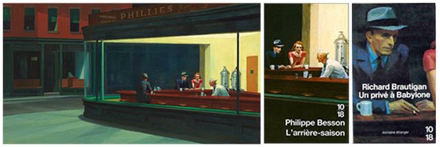 Edward Hopper  Nighthawks  1942 - The Art Institute of Chicago, Friends of American Art Collection et des couvertures