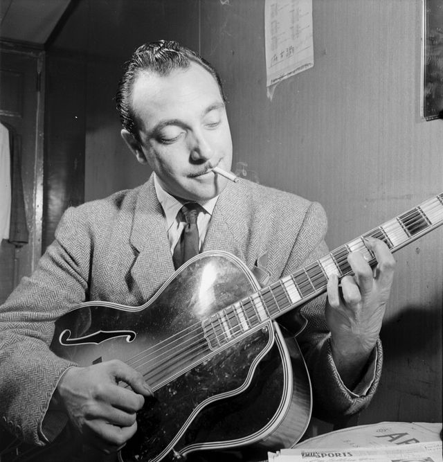 Django Reinhardt à l'Aquarium de New York en november 1946