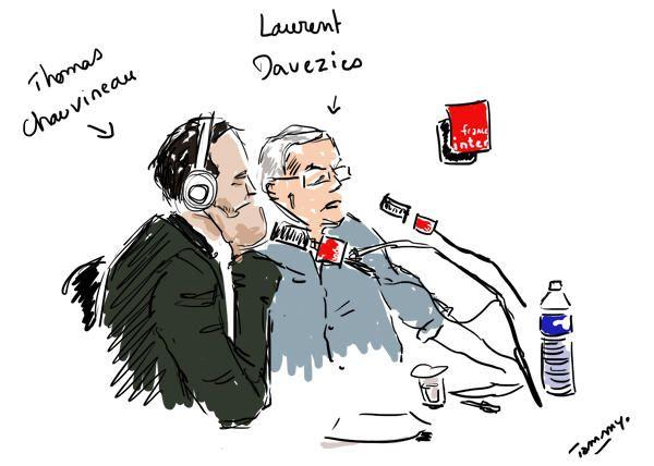 Thomas Chauvineau et Laurent Davezies en studio