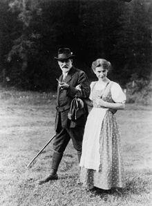 Sigmund et Anna Freud