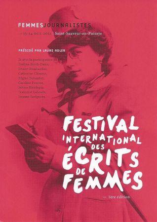 1er Festival international des écrits de femmes au pays de Colette