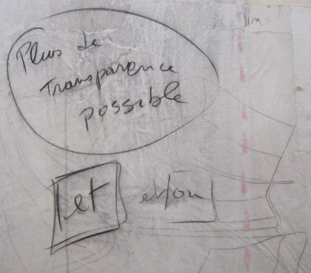 Fabrice Hyber, détail peinture homéopathique