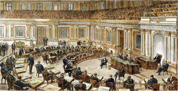 Le Sénat des Etas-Unis en session - Gravure du Harper's Weekly du 1er mars 1873
