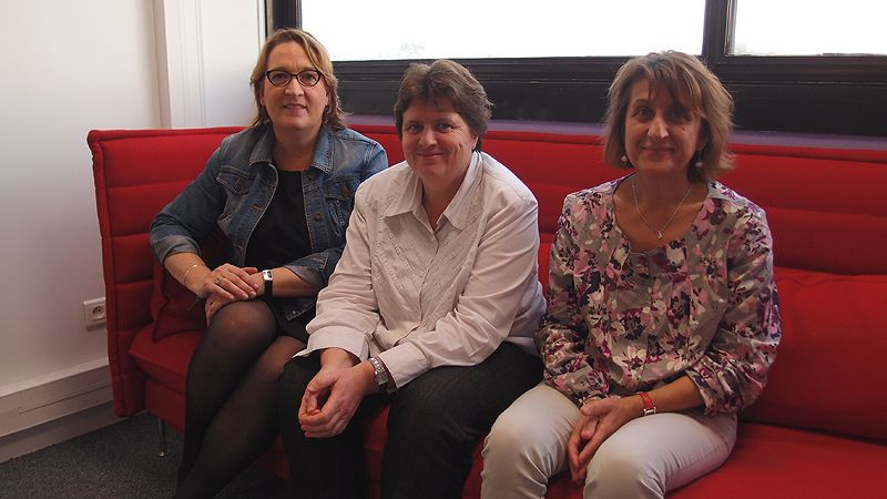 Claire Compagnon, Marianne Binst et Fabienne Bézio