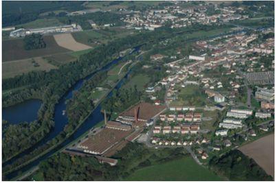 l'ancien site des Héritiers Georges Perrin, un village-usine développé aux côtés de la petite ville de Charmes
