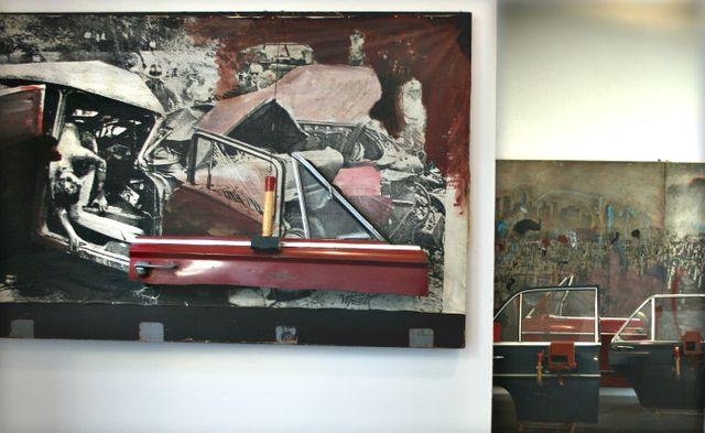 Wolf Vostell, 1975, Fandango, détail