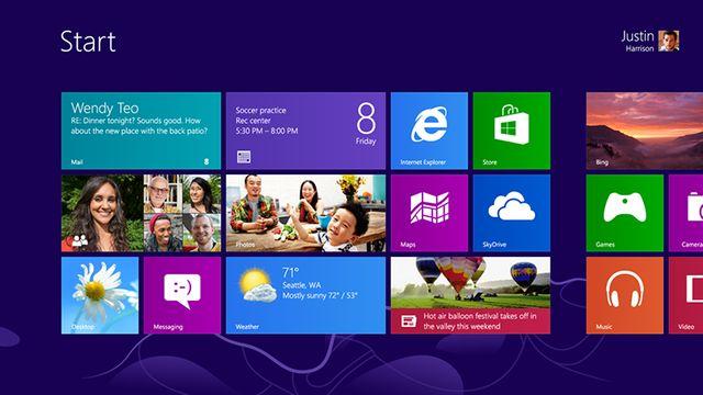 Le nouvel écran d'accueil de Windows 8