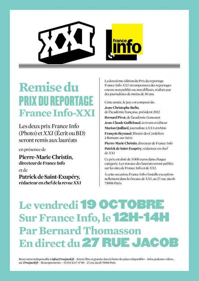 Prix France Info et XXI