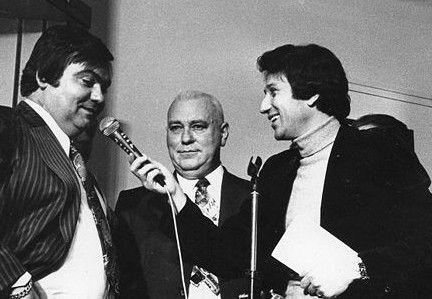 Tirage au sort de la Coupe de France 1978-1979 (Louis Nicollin, François Jouvenet, Michel Drucker et Anne-Marie Pey)