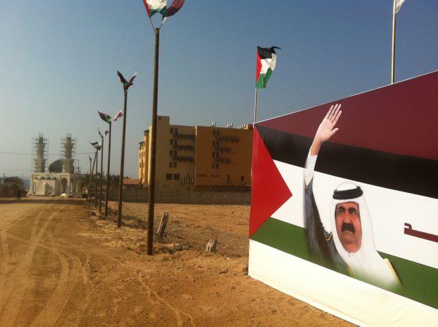 L'émir du Qatar est reçu en grande pompe à Gaza
