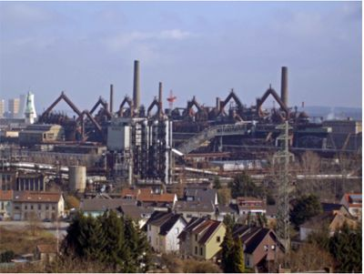 L'ancienne usine sidérurgique de Völklingen (Sarre, Allemagne) devenue musée industriel inscrit au patrimoine mondial de l'UNESC